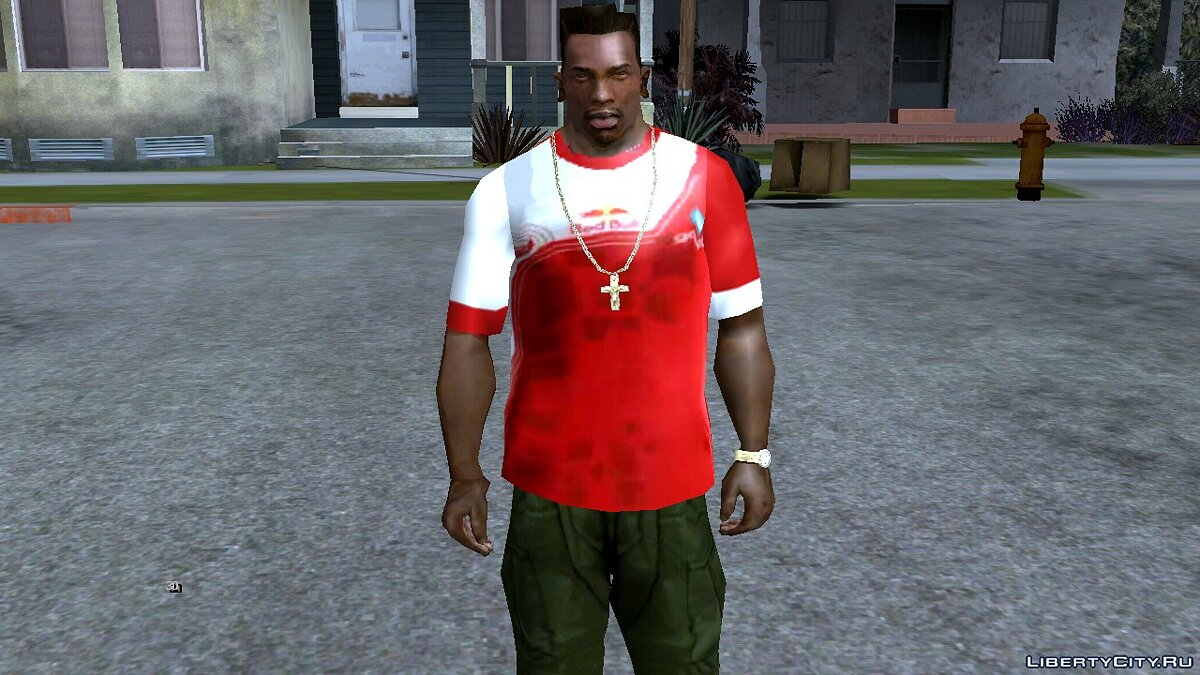 Pullovers and T-shirts Bigetron esport for GTA San Andreas (iOS, Android)