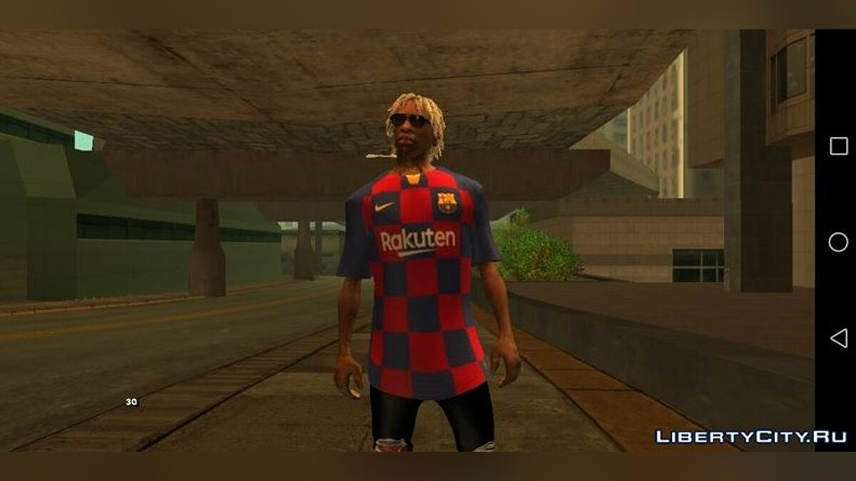 Pullovers and T-shirts Jersey Juventus Home 19-20 for GTA San Andreas (iOS, Android)