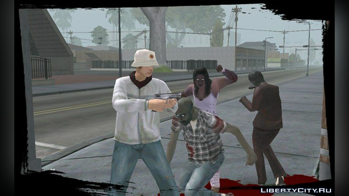 Zombie Mod for Android v1.5 for GTA San Andreas (iOS, Android) - screenshot #2