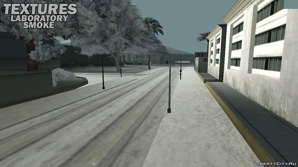 Global mod Winter textures all over the state for GTA San Andreas (iOS, Android)