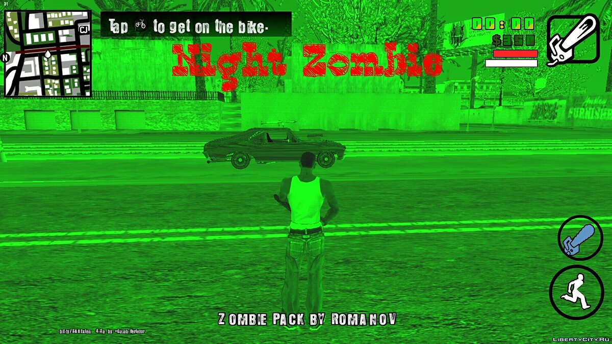 Night Zombie (beta 0.1) for GTA San Andreas (iOS, Android) - Картинка #1