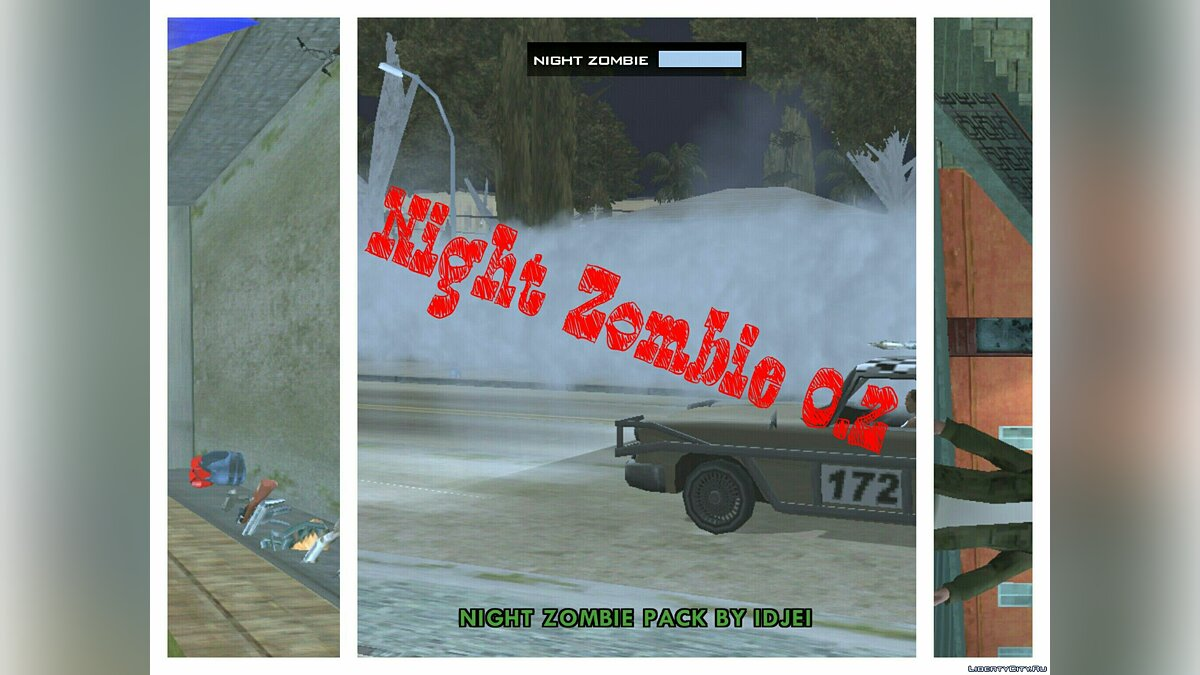 Global mod Night Zombie (beta 0.2) for GTA San Andreas (iOS, Android)
