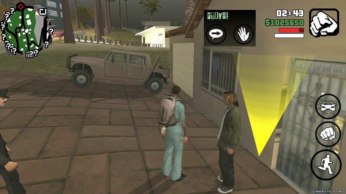 Global mod Night Zombie 0.4 (beta) for GTA San Andreas (iOS, Android)