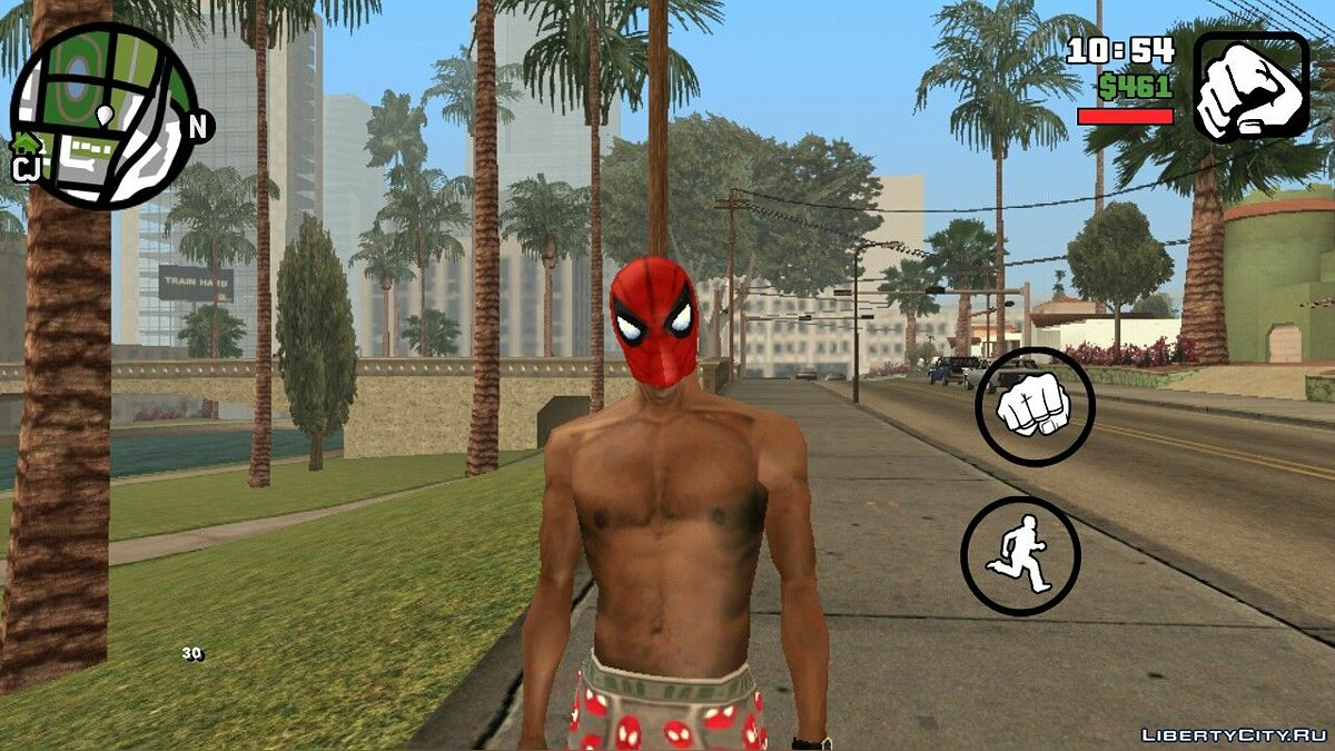 Hats Spiderman mask for GTA San Andreas (iOS, Android)