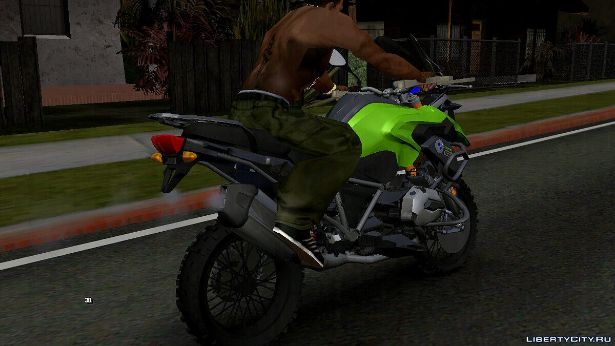 Motorbike BMW R1200 (DFF only) for GTA San Andreas (iOS, Android)