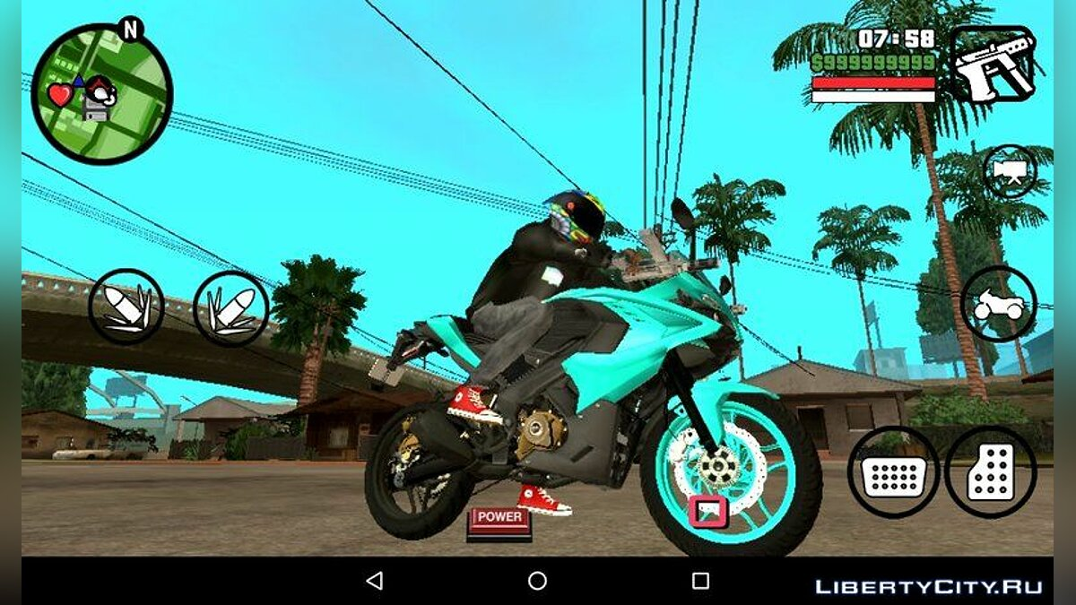 Sky Blue Pulsar RS200 for GTA San Andreas (iOS, Android) - Картинка #1