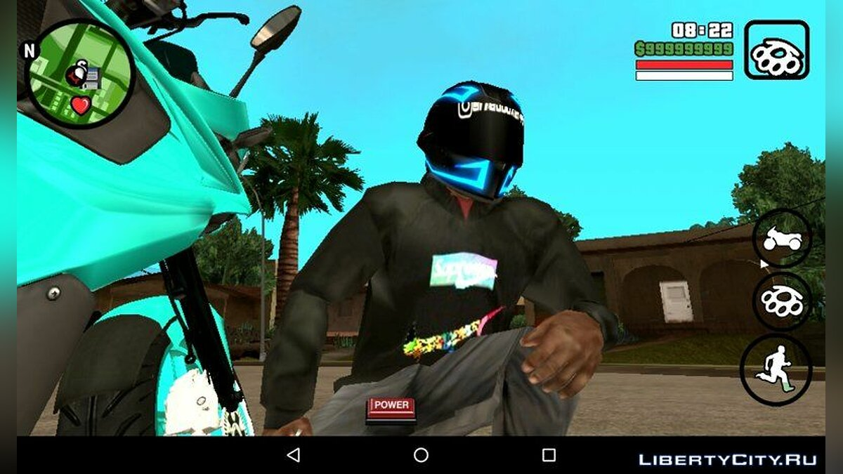 Sky Blue Pulsar RS200 for GTA San Andreas (iOS, Android) - Картинка #3