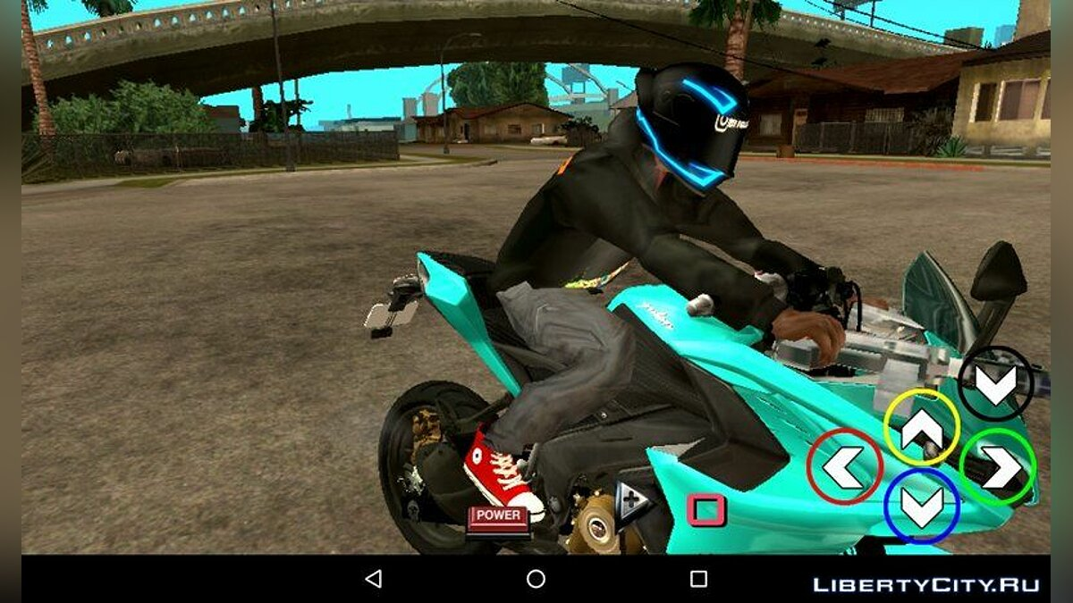 Sky Blue Pulsar RS200 for GTA San Andreas (iOS, Android) - Картинка #5