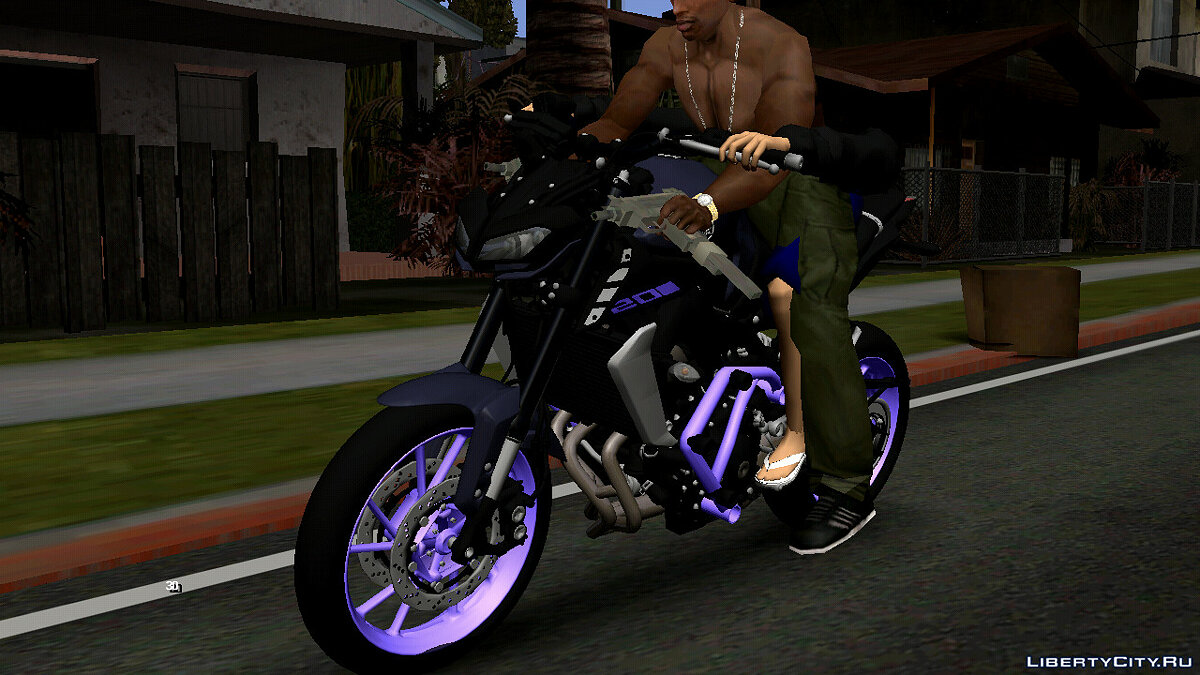 Motorbike Yamaha MT09 (DFF only) for GTA San Andreas (iOS, Android)