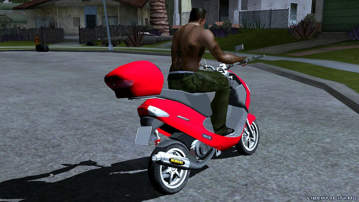 Motorbike Suzuki Scooter for GTA San Andreas (iOS, Android)