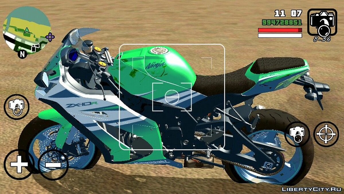 Motorbike Kawasaki Ninja ZX 10R for GTA San Andreas (iOS, Android)