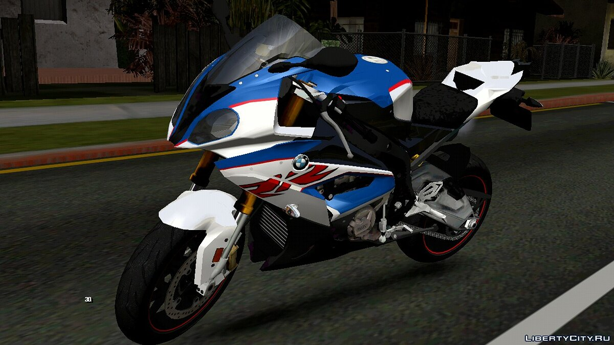 Motorbike BMW S1000RR for GTA San Andreas (iOS, Android)