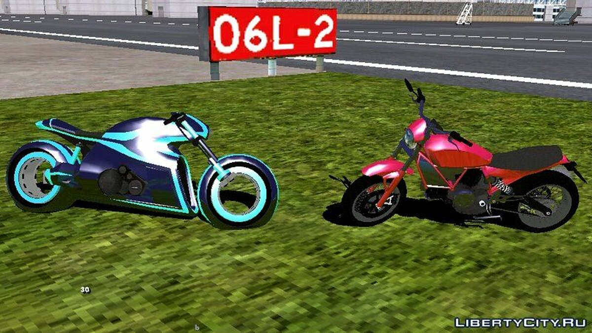 Motorbike Pak motorcycles from GTA 5 for GTA San Andreas (iOS, Android)