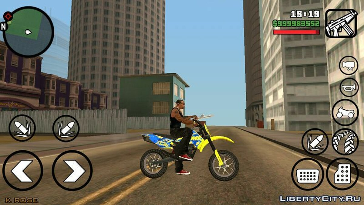 Motorbike Sanchez from GTA 5 for GTA San Andreas (iOS, Android)