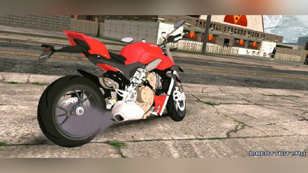 Motorbike Ducati Streetfighter V4S 2020 for GTA San Andreas (iOS, Android)