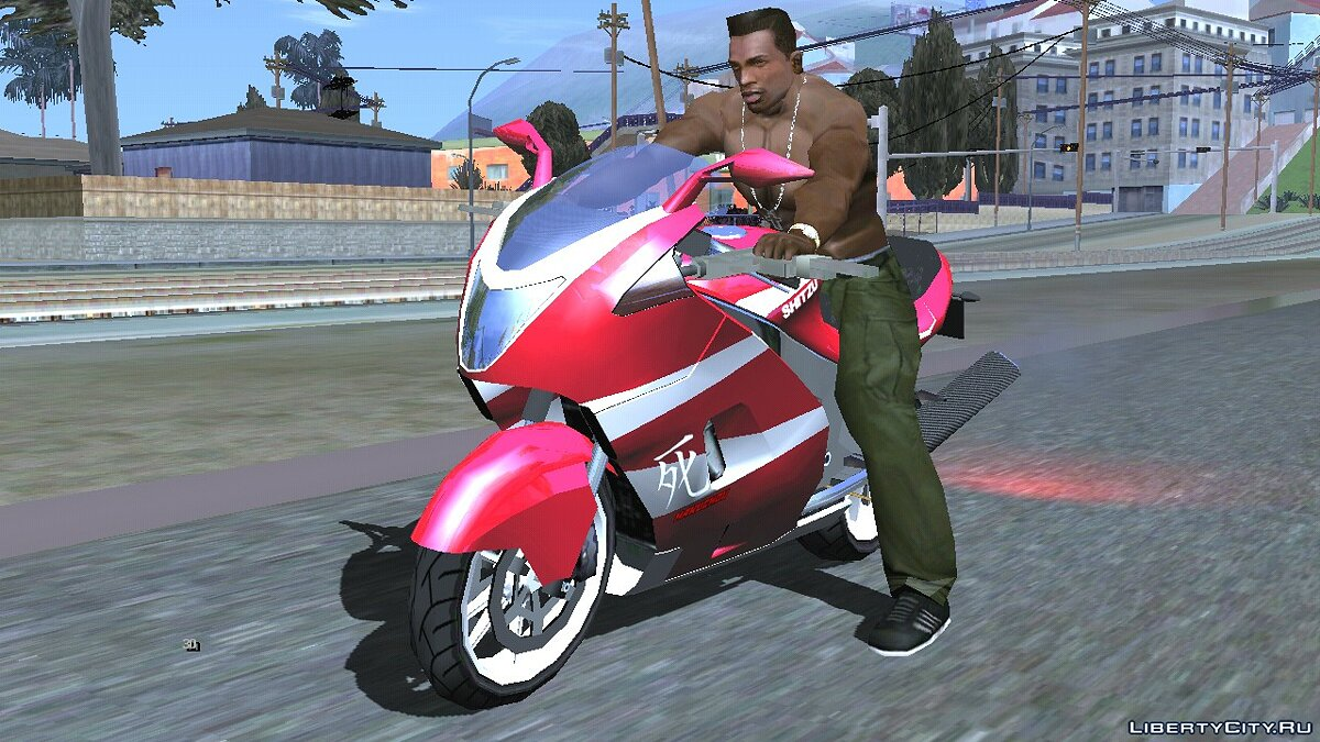 Motorbike Shitzu Hakuchou from GTA 5 for GTA San Andreas (iOS, Android)