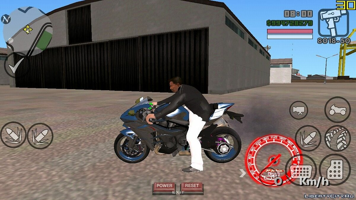 Motorbike Ninja H2 for GTA San Andreas (iOS, Android)