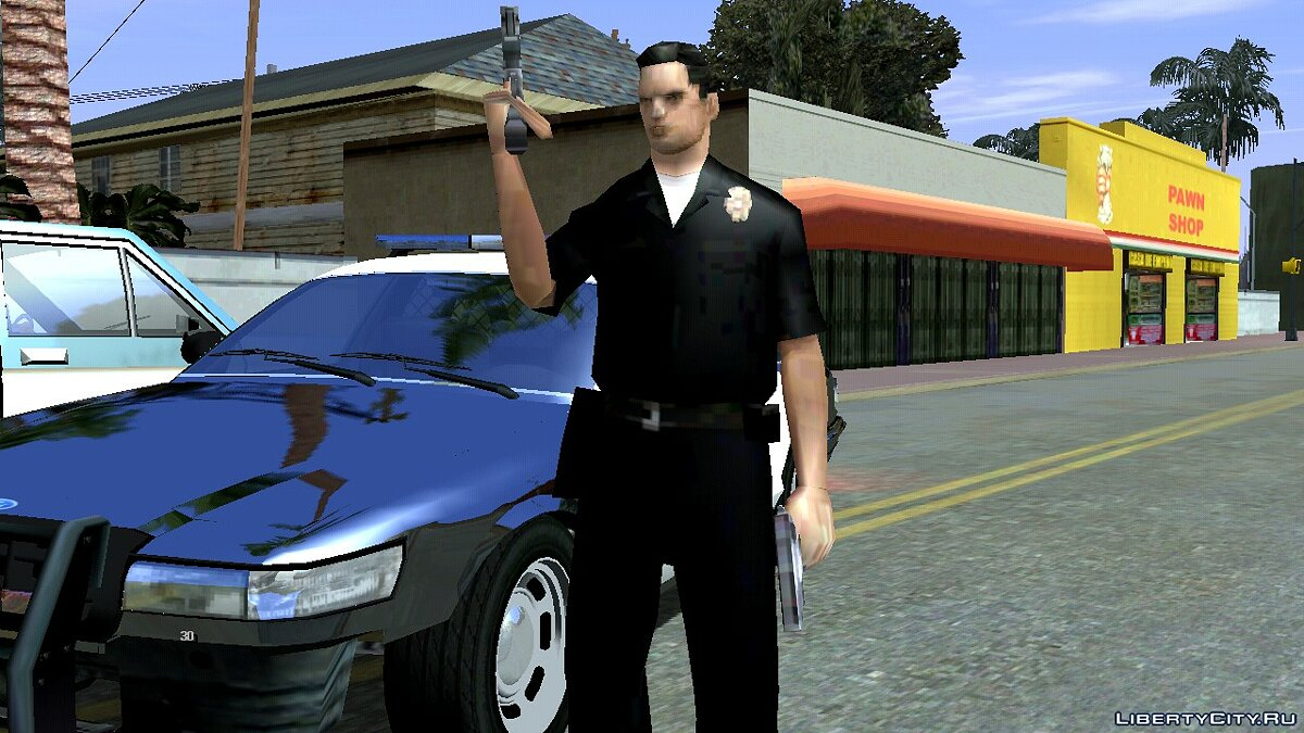 Program Police attack with two pistols for GTA San Andreas (iOS, Android)