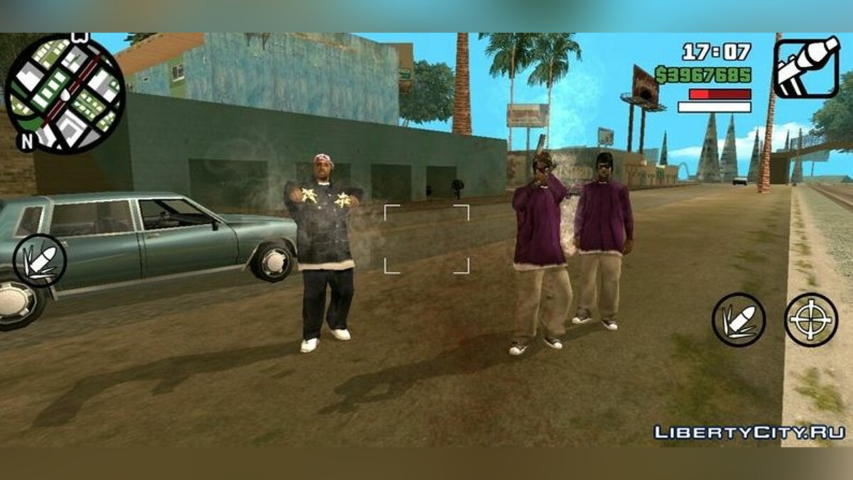 Program Two weapons in the hands for GTA San Andreas (iOS, Android)