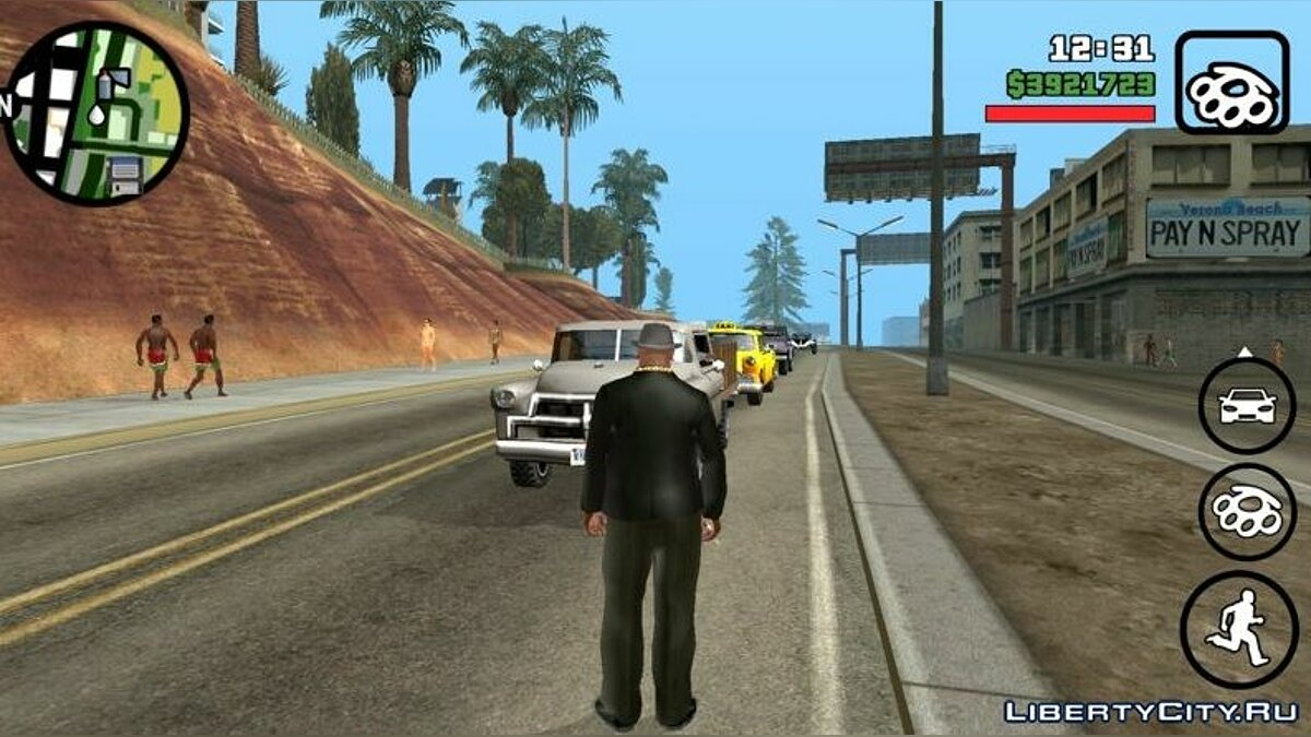 Program Traffic in GTA Vice City for GTA San Andreas (iOS, Android)
