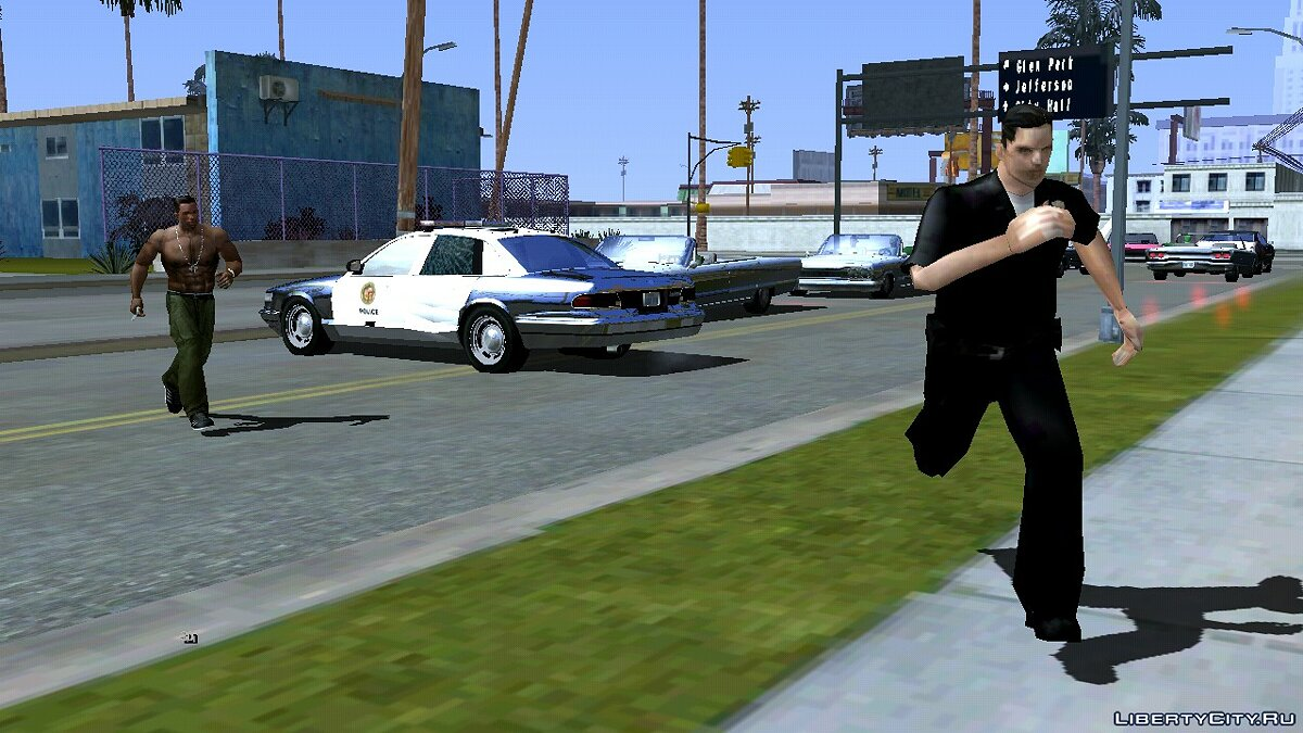 Program The cops run away from Cj for GTA San Andreas (iOS, Android)