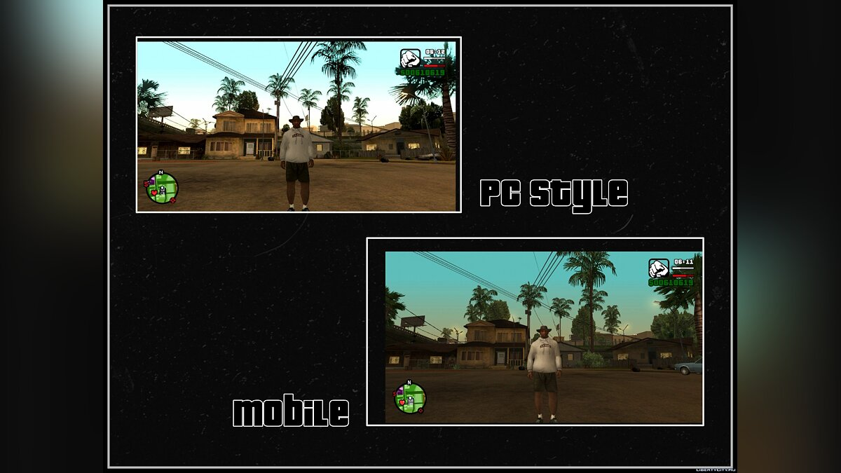 Program SA PC GRAPHIC to MOBILE SA - PC graphics for mobile CA for GTA San Andreas (iOS, Android)