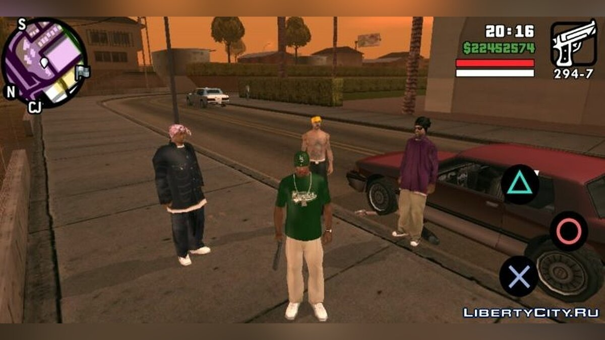 Program Union of gangs for GTA San Andreas (iOS, Android)