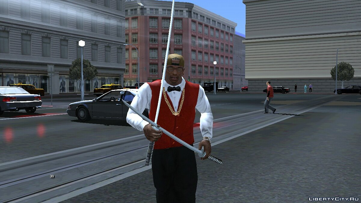 Program Two katanas in the hands for GTA San Andreas (iOS, Android)