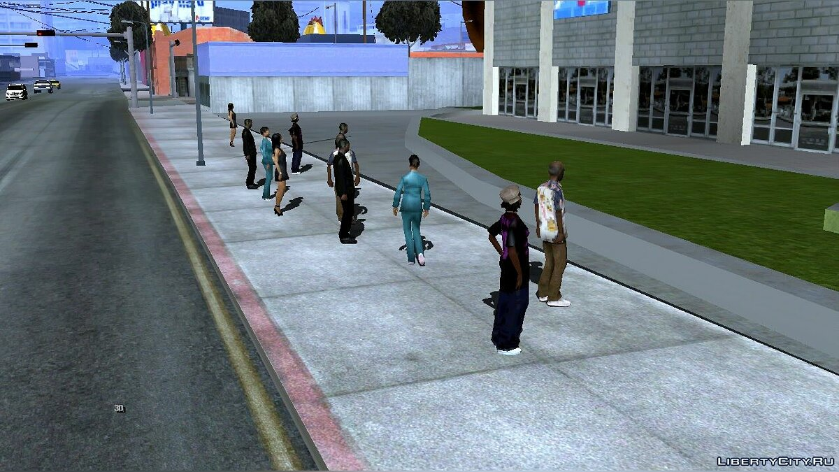 Program Maximum number of pedestrians for GTA San Andreas (iOS, Android)