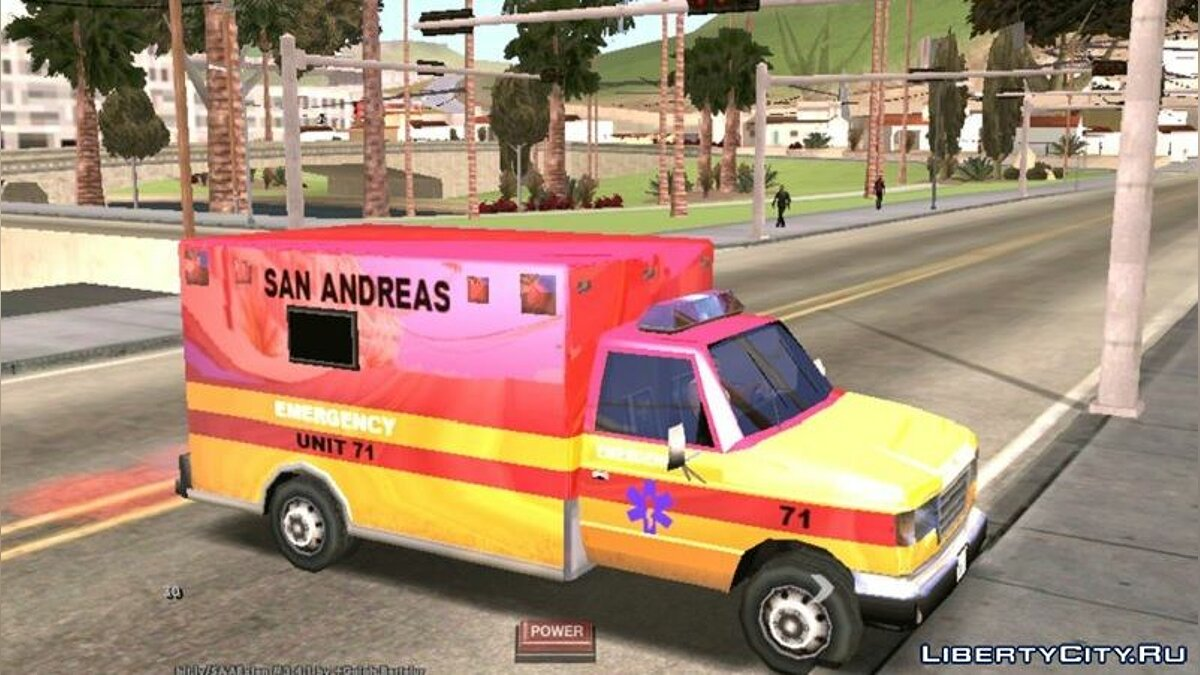 Program New color for ambulance for GTA San Andreas (iOS, Android)
