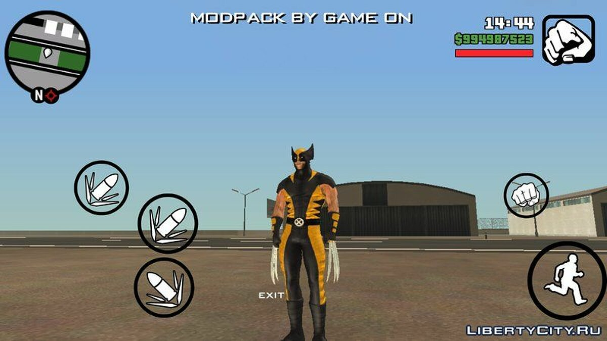 "Costume Wolverine from the movie ""Wolverine: Immortal"" for GTA San Andreas (iOS, Android) - Картинка #3"