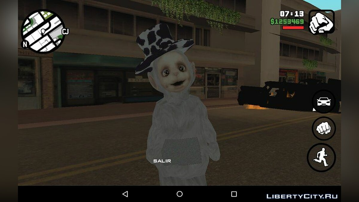 New character Teletubbies from the game Slendytubbies for GTA San Andreas (iOS, Android)