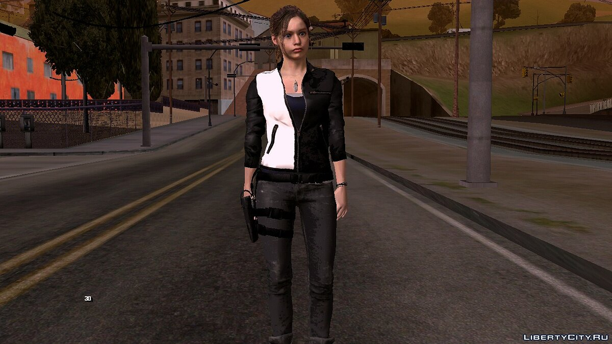 New character Claire Redfield for GTA San Andreas (iOS, Android)