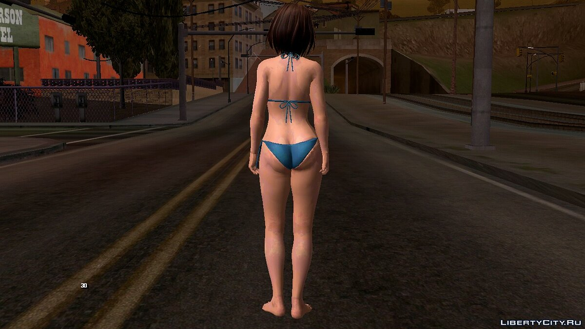 New character Tsukushi in a swimsuit for GTA San Andreas (iOS, Android)