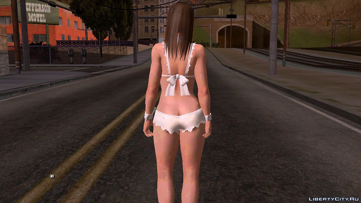 New character Hitomi in a swimsuit for GTA San Andreas (iOS, Android)