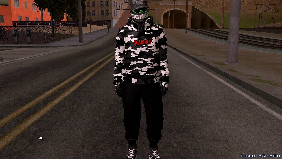 New character Skin from GTA Online (Scarface Style) v3 for GTA San Andreas (iOS, Android)