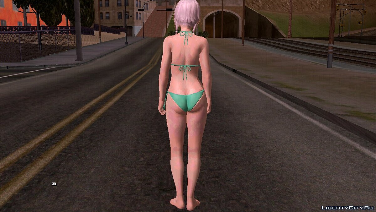 New character The moon in a swimsuit for GTA San Andreas (iOS, Android)