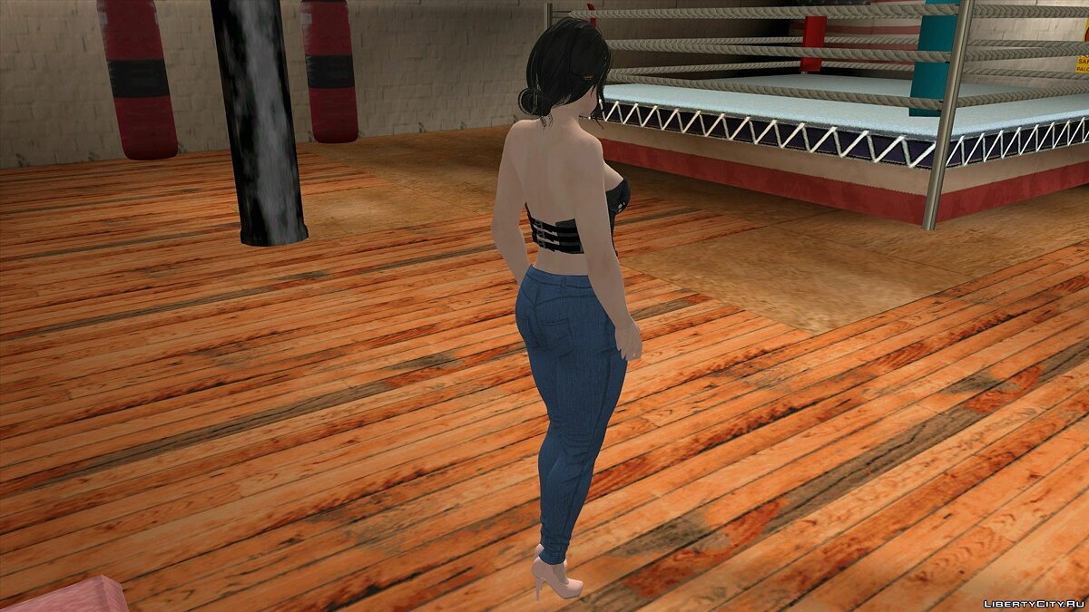 New character Momiji in casual clothes for GTA San Andreas (iOS, Android)