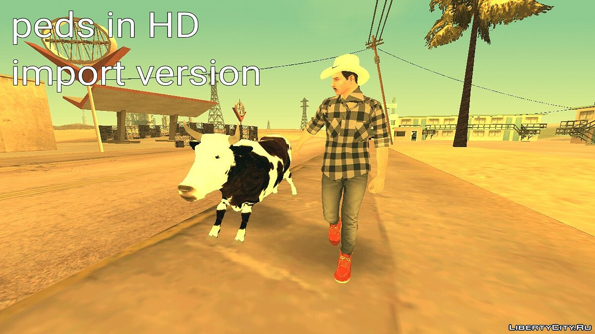 New character Large collection of HD skins for GTA San Andreas (iOS, Android)