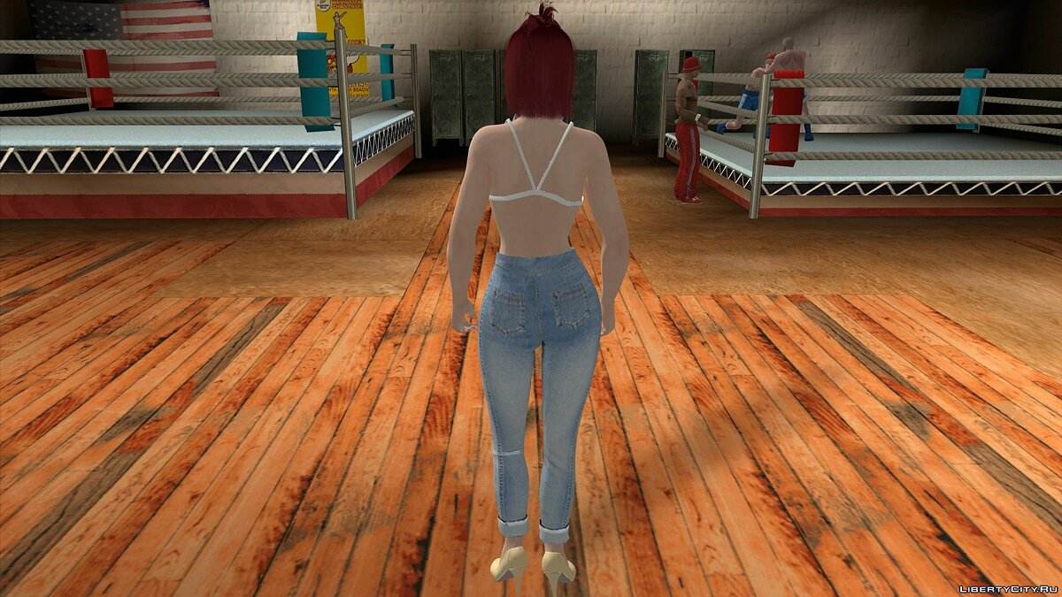 New character Mila in casual clothes v5 for GTA San Andreas (iOS, Android)
