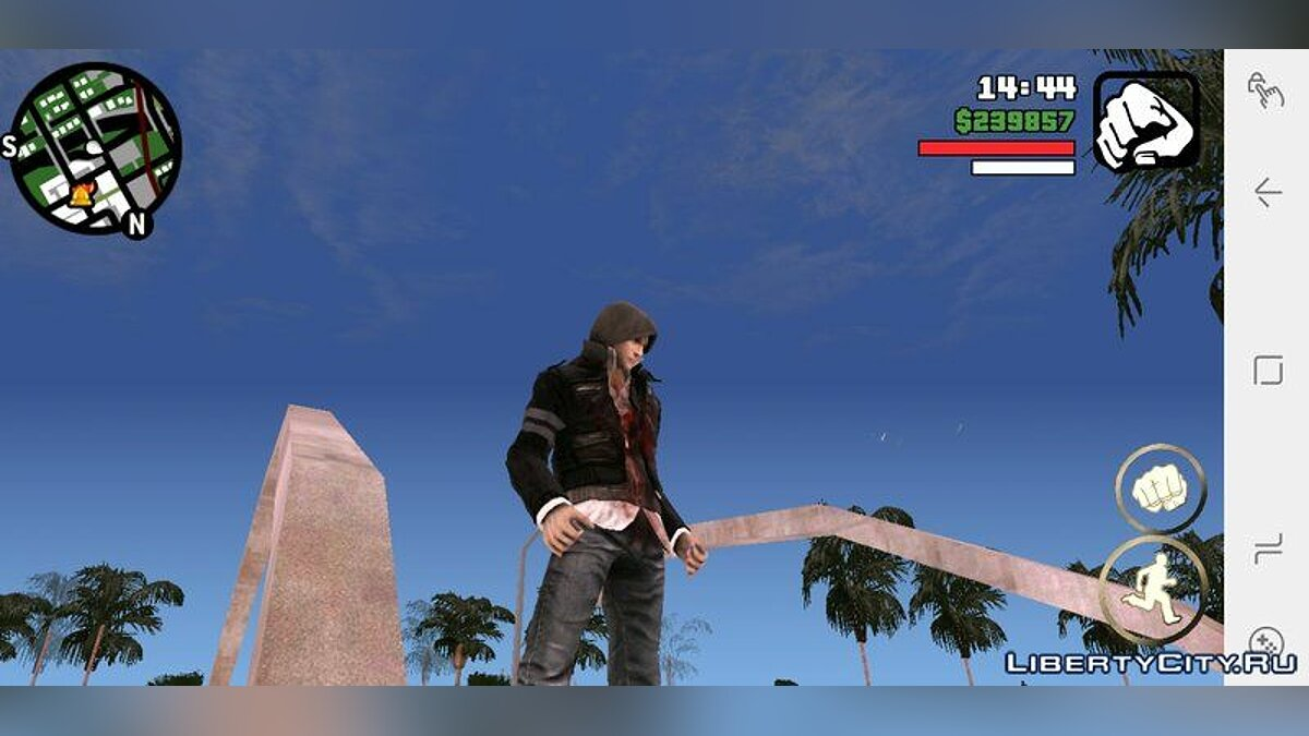New character Alex Mercer Skin for GTA San Andreas (iOS, Android)