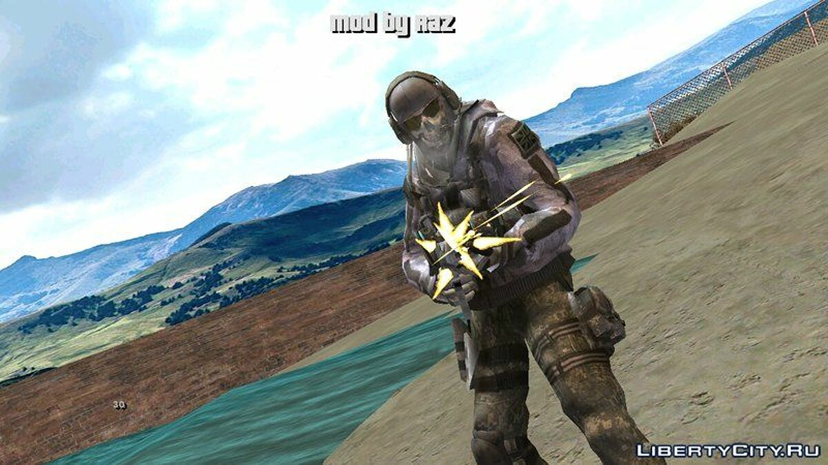 New character Skin of Call of Duty: Ghosts for GTA San Andreas (iOS, Android)