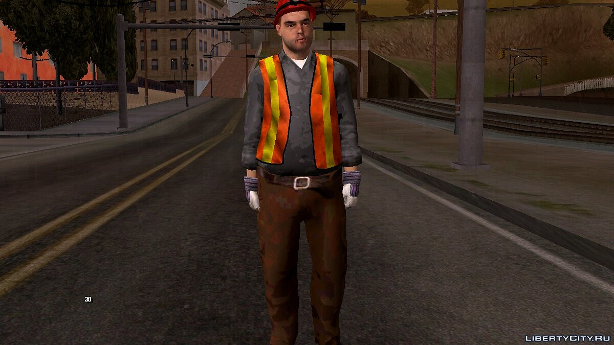 New character Worker for GTA San Andreas (iOS, Android)