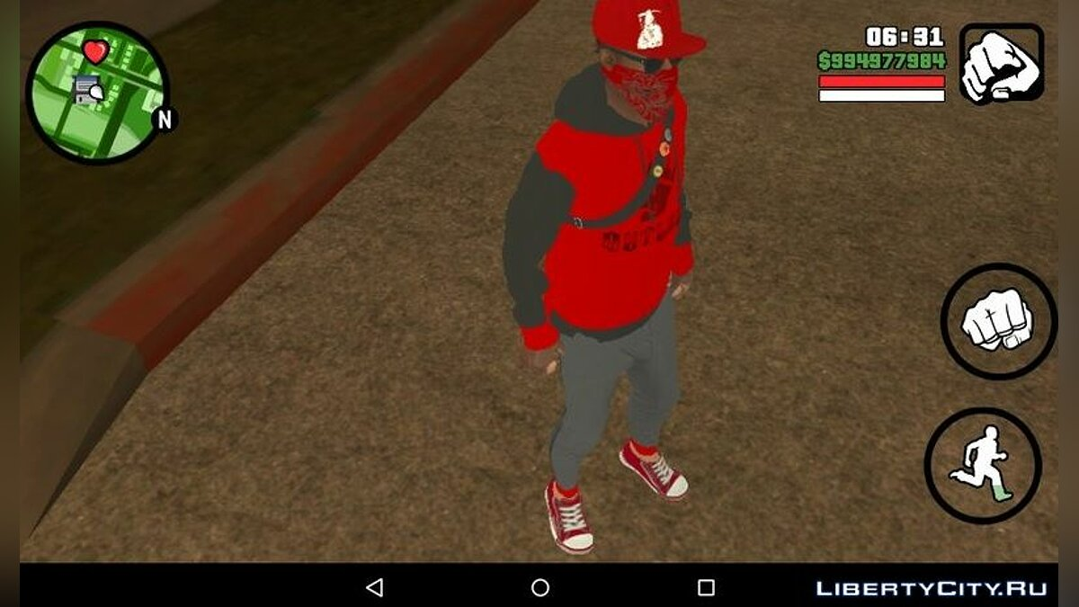 New character Marcus Holloway from Watch Dogs 2 Modern Day Blood for GTA San Andreas (iOS, Android)