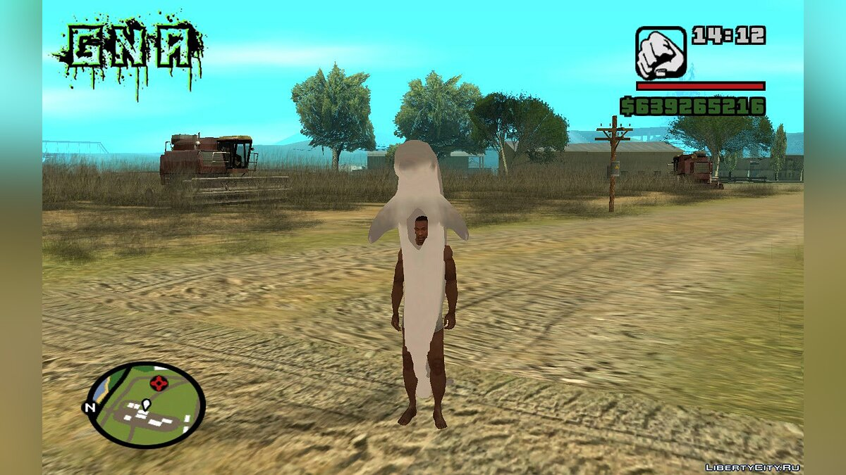 New character Dolphin Costume for CJ for GTA San Andreas (iOS, Android)