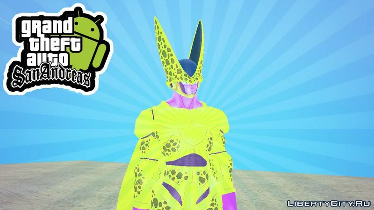 New character Golden Cell from Ultra Dragon Ball for GTA San Andreas (iOS, Android)