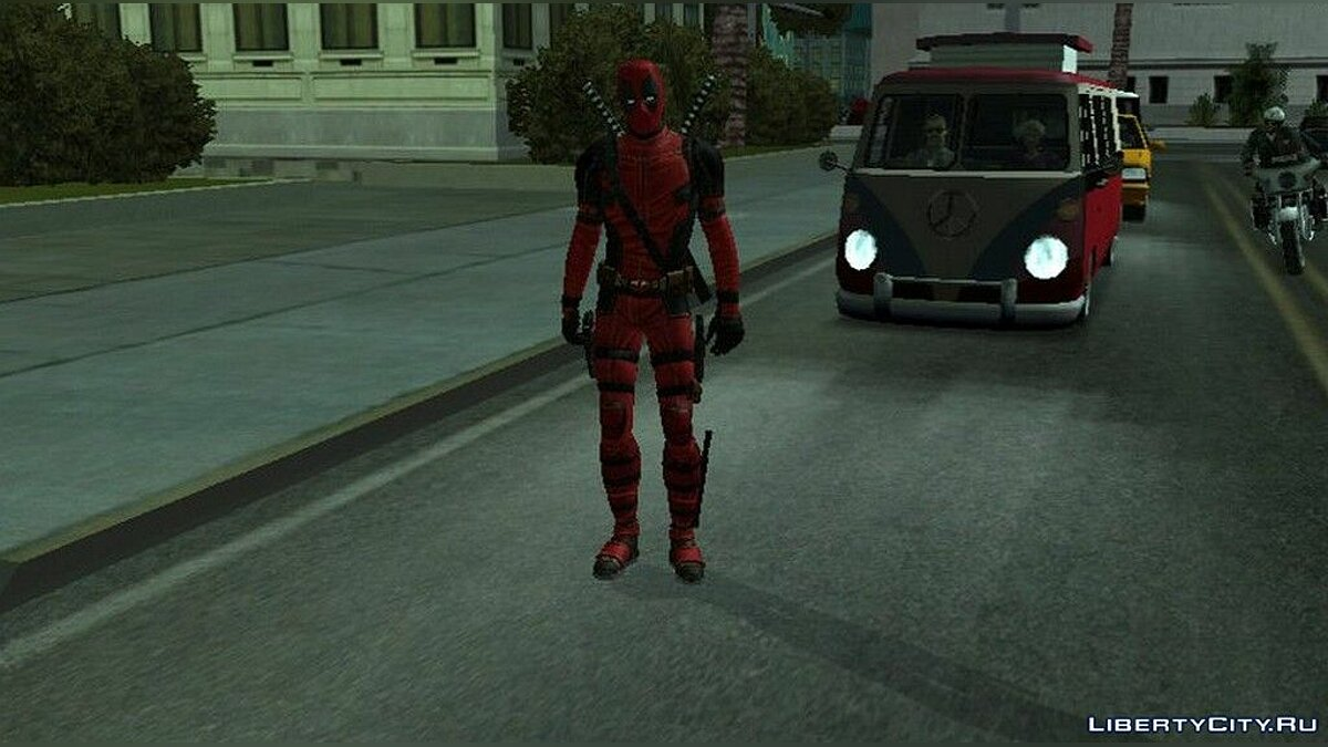 New character Deadpool from the movie for GTA San Andreas (iOS, Android)