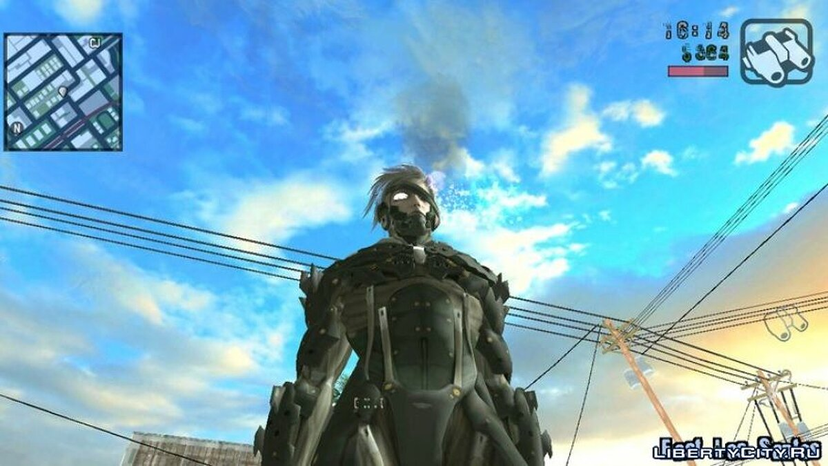 New character Raiden from Metal Gear Rising for GTA San Andreas (iOS, Android)
