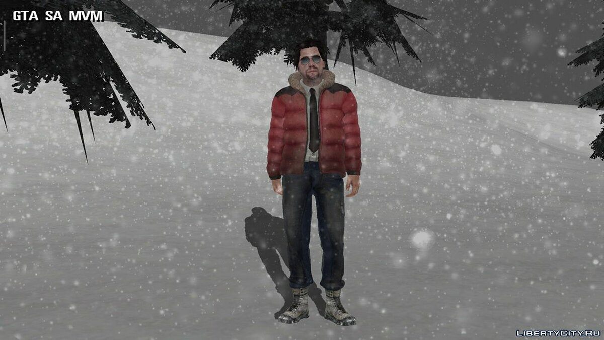 New character Winter skin for GTA San Andreas (iOS, Android)