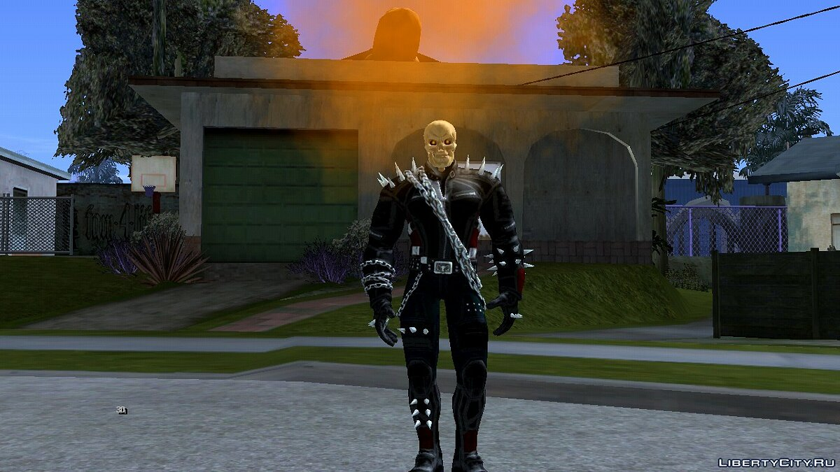 New character Ghost rider for GTA San Andreas (iOS, Android)